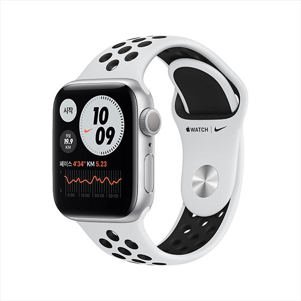 [apple]애플워치 나이키 시리즈 6 GPS, 40mm 실버 알루미늄 케이스