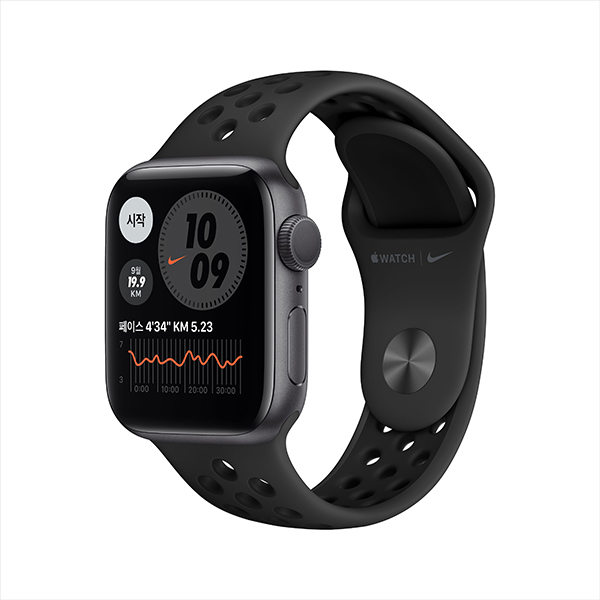 [apple]애플워치 나이키 시리즈 6 GPS, 40mm 스페이스 그레이 알루미늄 케이스