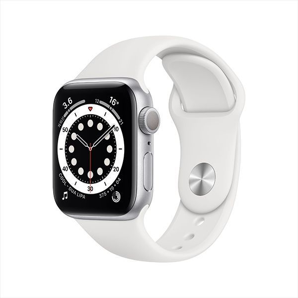 [Apple] 애플워치 시리즈 6 GPS, 40mm 실버 알루미늄 케이스 & 화이트 스포츠 밴드 - MG283KH/A