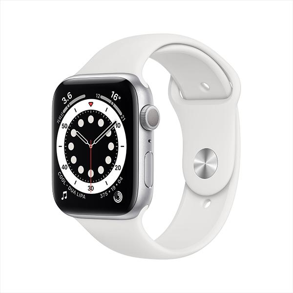 [apple]애플워치 시리즈 6 GPS, 44mm 실버 알루미늄 케이스 M00D3KH/A