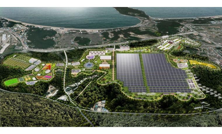 태양열 발전 시스템 조감도 입니다.