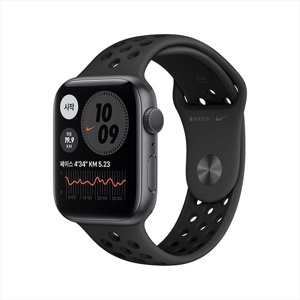 [Apple]애플워치 나이키 시리즈 6 GPS, 44mm 스페이스 그레이 알루미늄 케이스